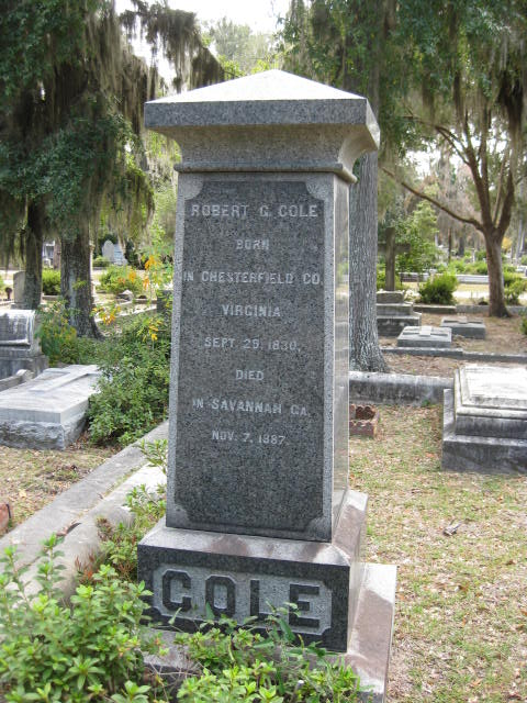 rg cole tombstone