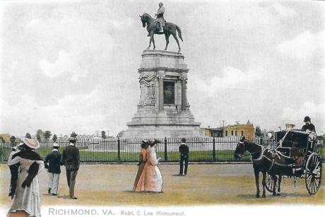 Robert E Lee monument 1890