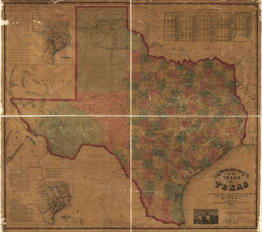 texas map 857